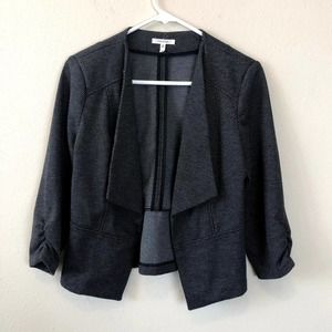 Maurices Hounds Tooth Grey Blazer Jacket Top